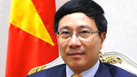 PTT/Ngoại trưởng VN Phạm Bình Minh - ảnh VOV