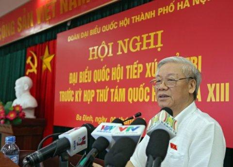 Nguyễn Phú Trọng (ảnh Việt Dũng)